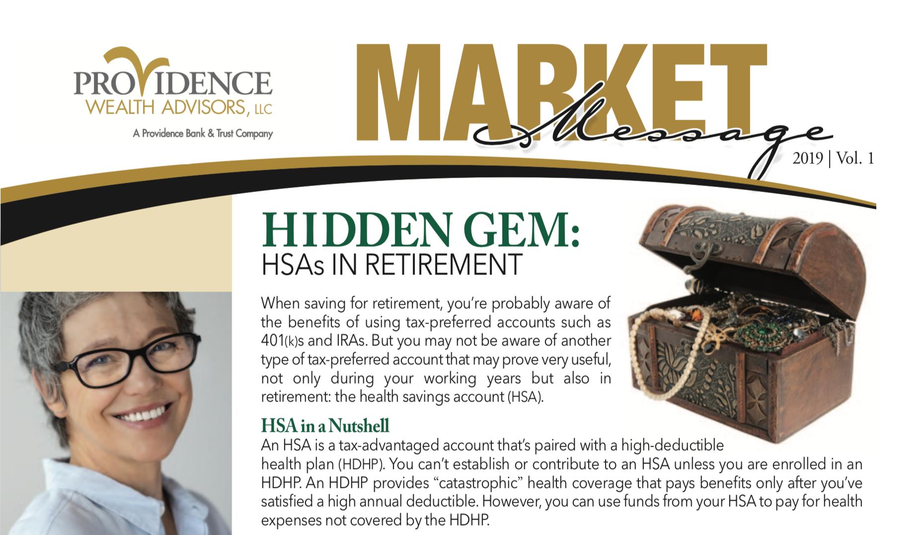 market message newsletter screen capture